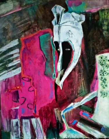 Still life with   african mask